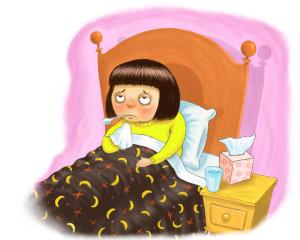 Постельный режим - основное условия правильного лечения простуды.