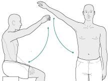 Самостоятельный подъем руки осуществляется только после признаков сращения перелома