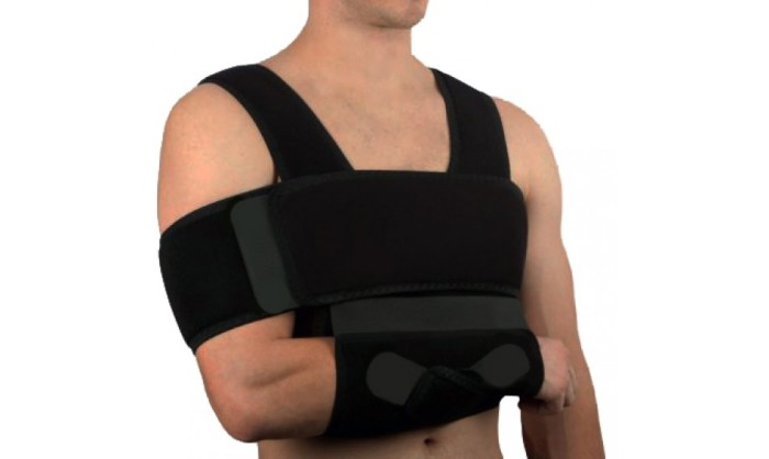 Иммобилизация плечевого сустава бандажом по Дезо